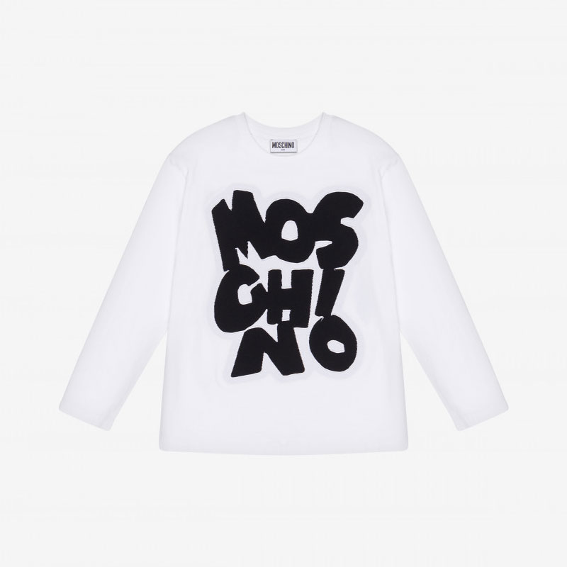 Maelle - Moschino - Maxi - T-shirt - White - Big logo