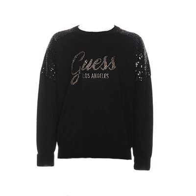 Maelle - LS Sweater nera - Guess.jpg